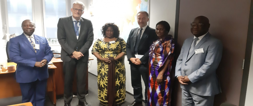The Hon. Minister and Director of Fisheries Visit E.U Headquarter in Brussels to Discuss issues relating to the Rescinding of the EU. YELLOW CARD ban slammed on Sierra Leone